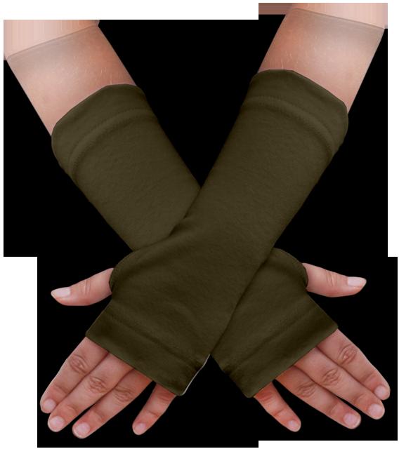 Návleky na ruce khaki