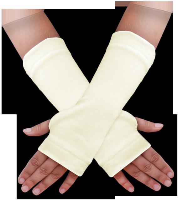 Návleky na ruce žluté máslové