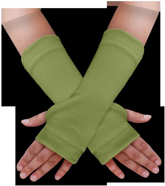 Návleky na ruce zelené olivové