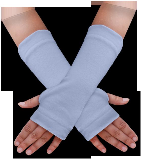 Návleky na ruce modré pomněnkové
