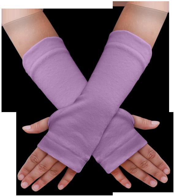 Návleky na ruce fialové šeříkové
