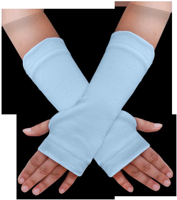 Návleky na ruce modré světlé