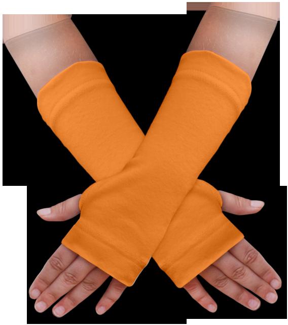 Návleky na ruce oranžové světlé
