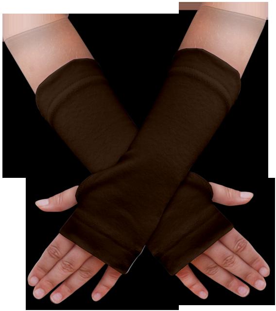 Návleky na ruce hnědé