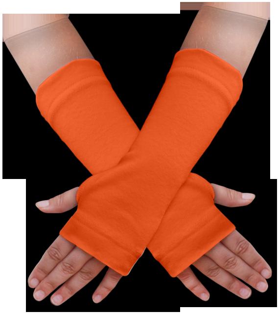 Návleky na ruce oranžové tmavé