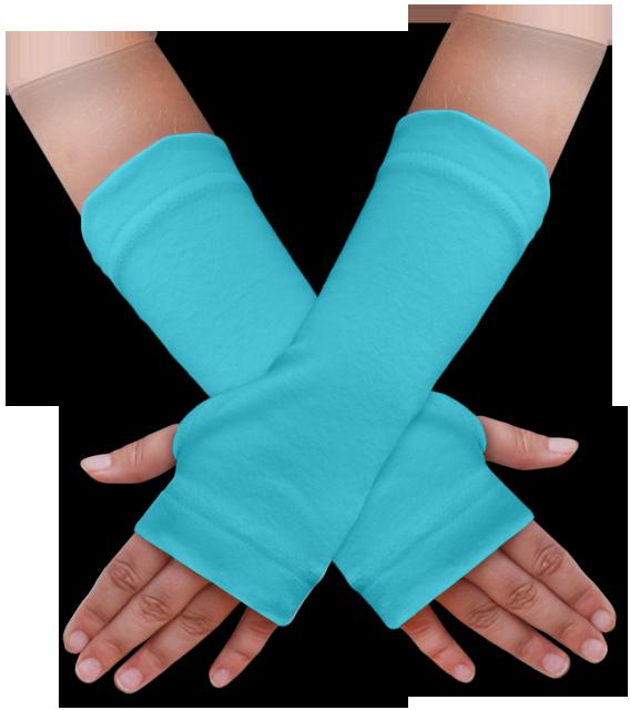 Návleky na ruce modré tyrkysové