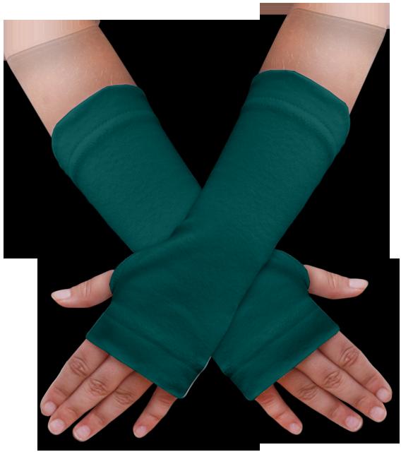 Návleky na ruce zelenomodré
