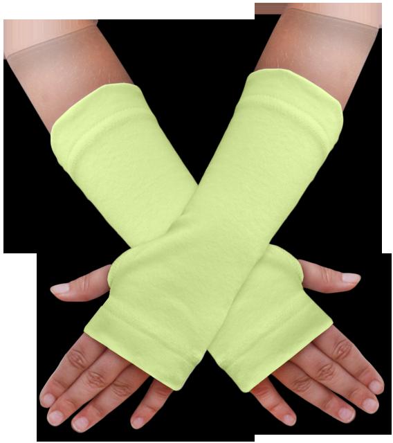 Návleky na ruce zelenkavé