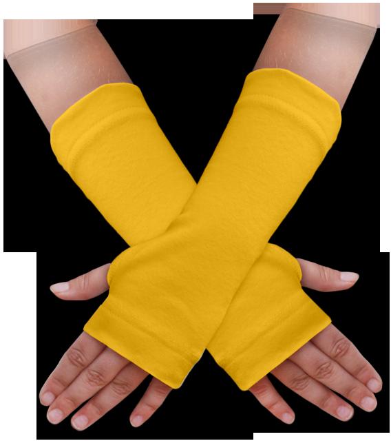 Návleky na ruce žluté