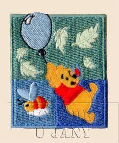 Nažehlovací aplikace Disney - Medvídek Pů s balónkem