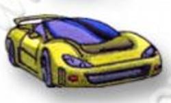 Nažehlovací aplikace - auto žluté