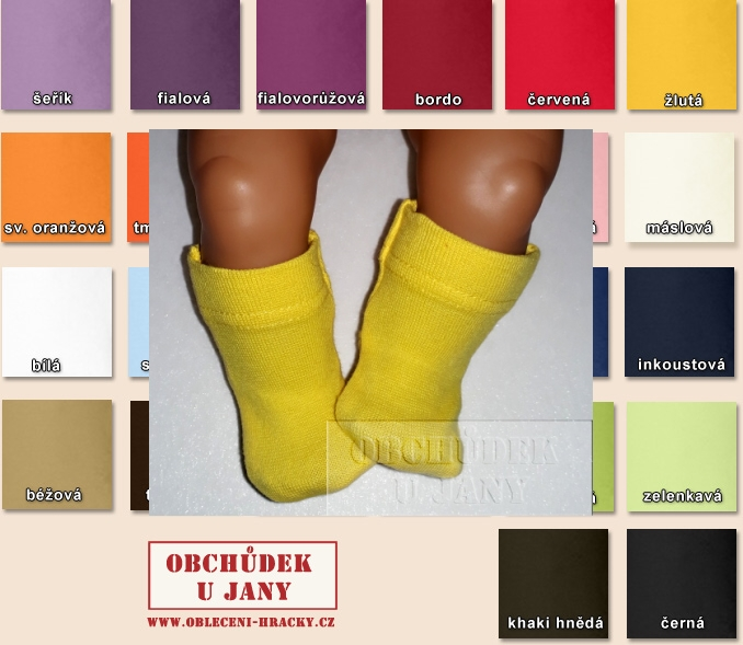 Ponožky pro panenku Baby born