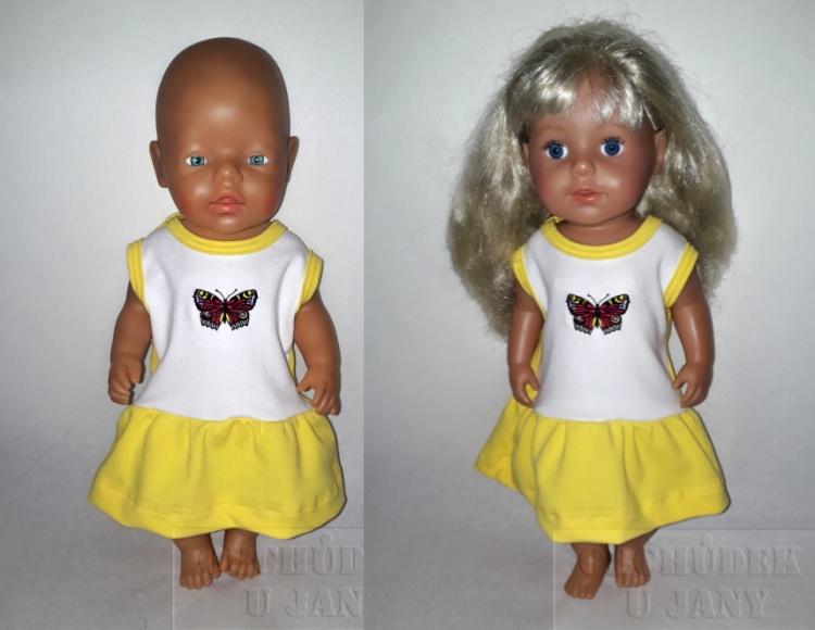 Šaty na panenku Baby born žluté