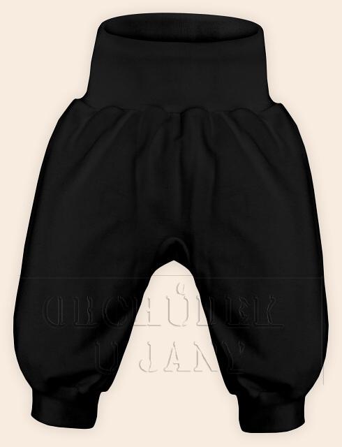 Kojenecké polodupačky bez ťapek černé