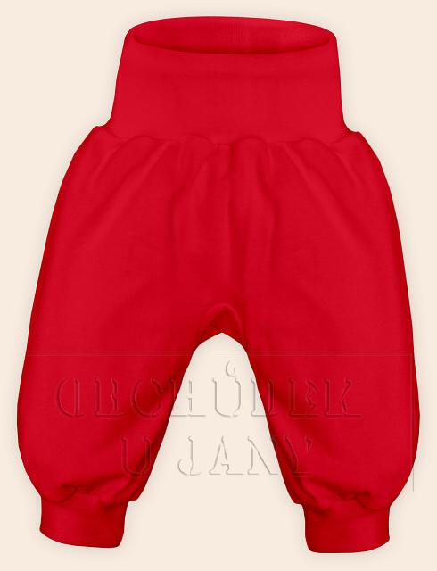 Kojenecké polodupačky bez ťapek červené