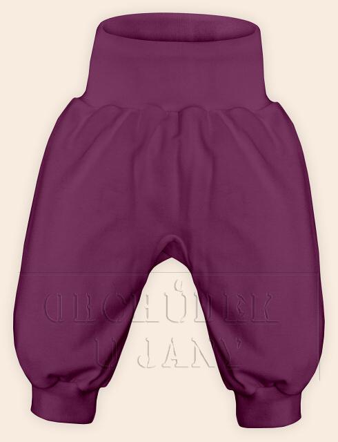 Kojenecké polodupačky bez ťapek fialovo-růžové