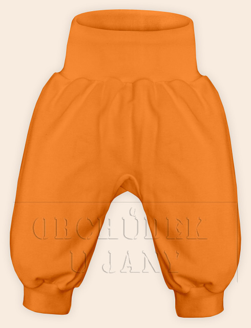 Kojenecké polodupačky bez ťapek oranžové světlé