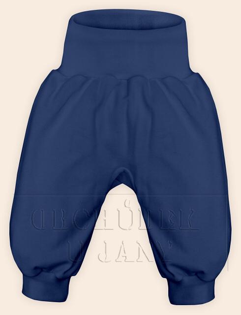 Kojenecké polodupačky bez ťapek modré