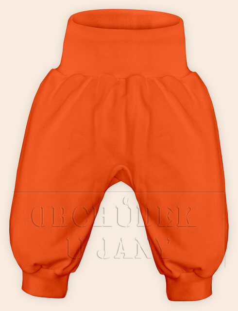 Kojenecké polodupačky bez ťapek oranžové tmavé