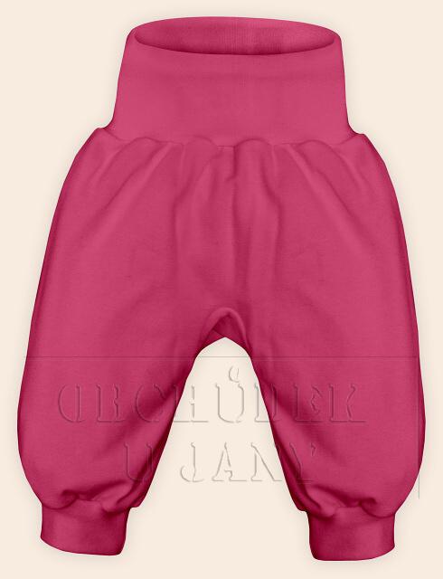 Kojenecké polodupačky bez ťapek růžové tmavé