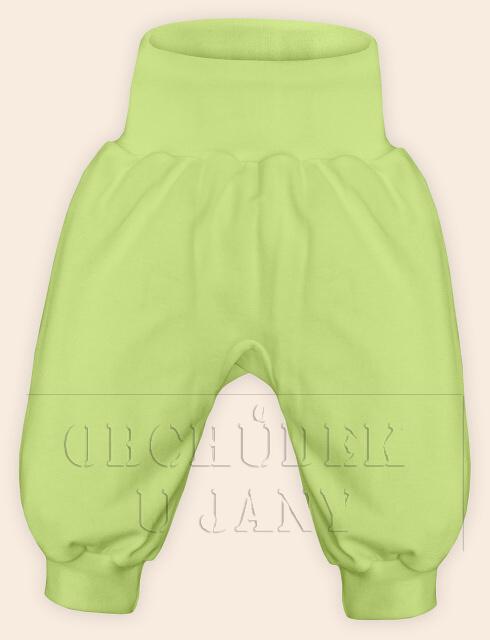 Kojenecké polodupačky bez ťapek zelenkavé