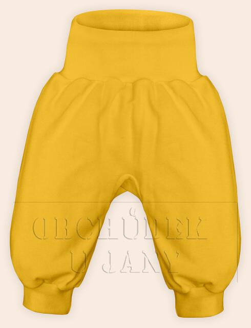 Kojenecké polodupačky bez ťapek žluté