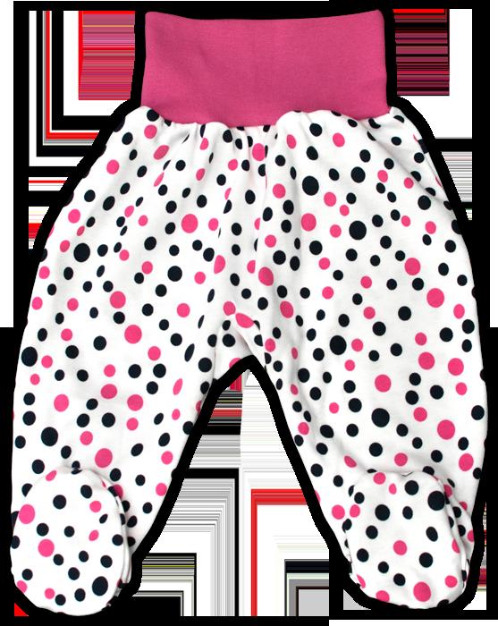 Kojenecké polodupačky růžový puntík