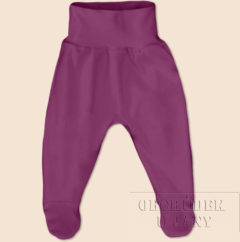 Kojenecké polodupačky fialovo-růžové
