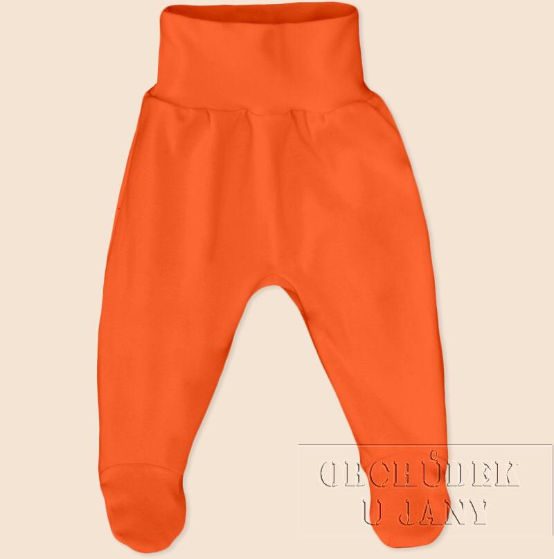 Kojenecké polodupačky oranžové tmavé