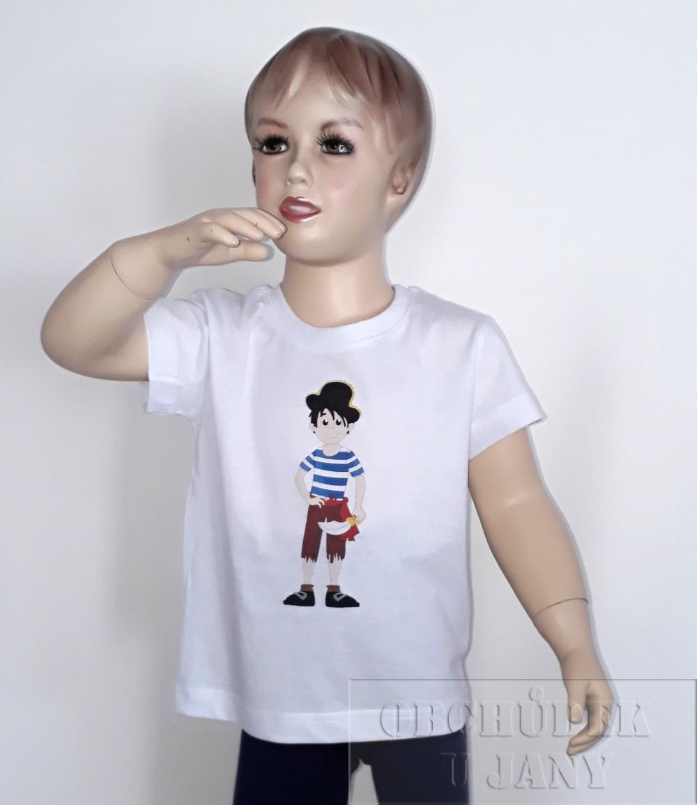 Dětské tričko s pirátem vel.110