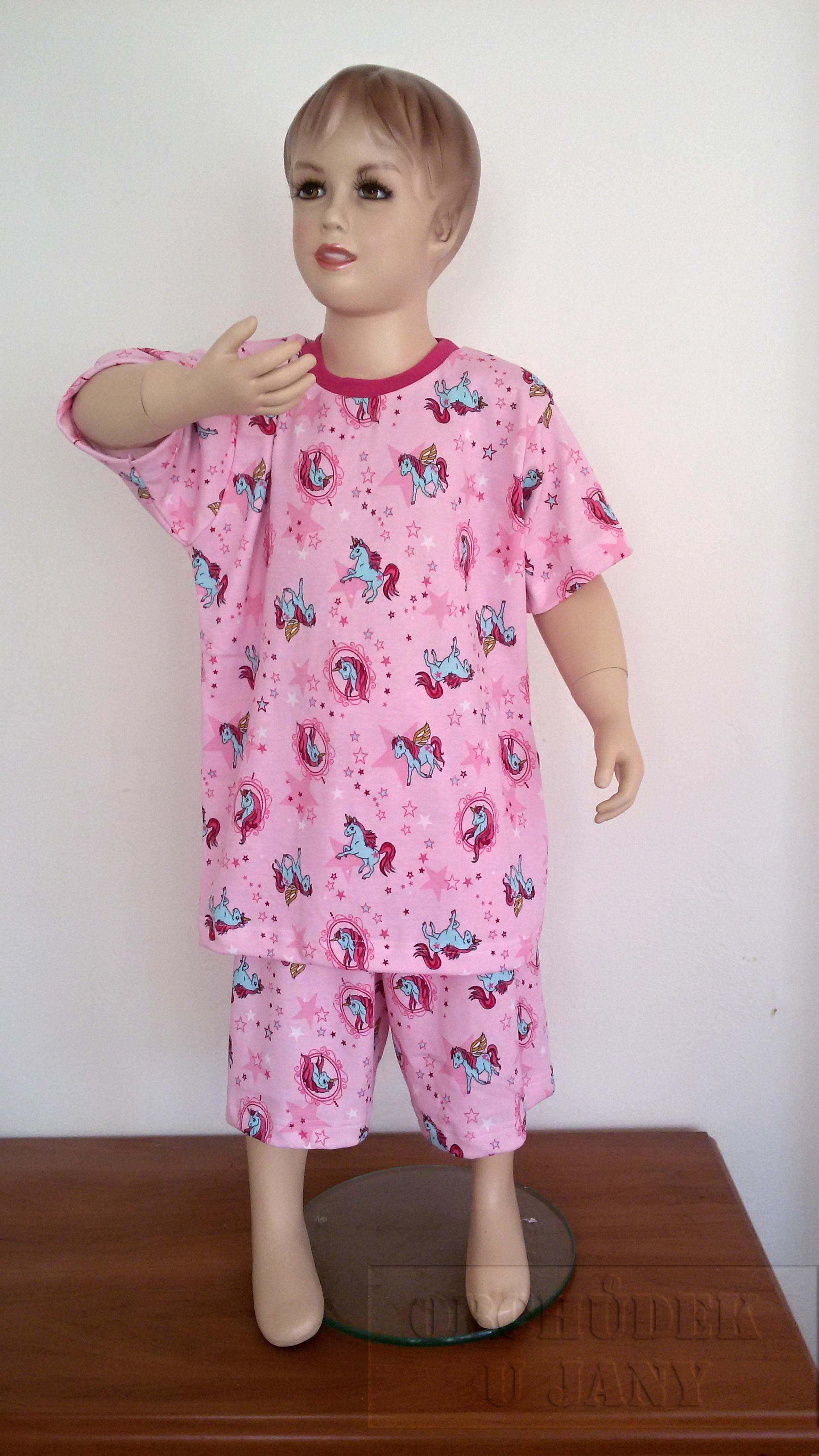Dívčí pyžamo koníci