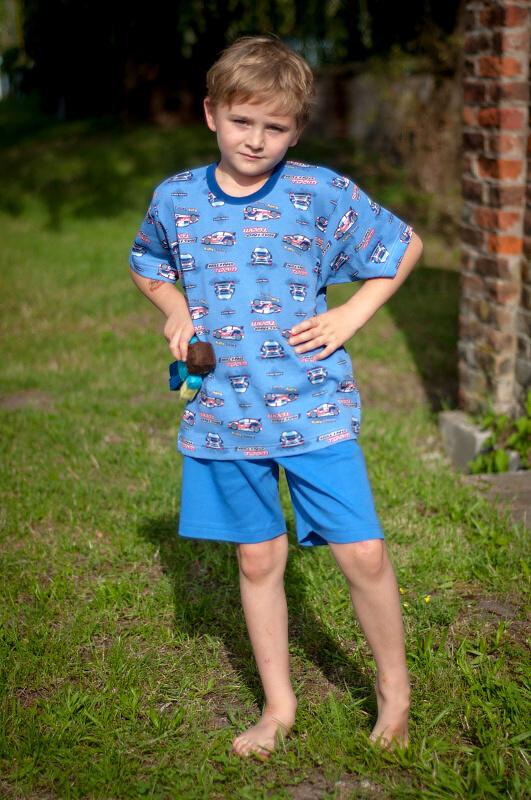 Chlapecké pyžamo auta - tmavé