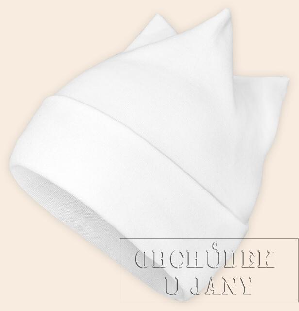 Čepice rohatka bílá