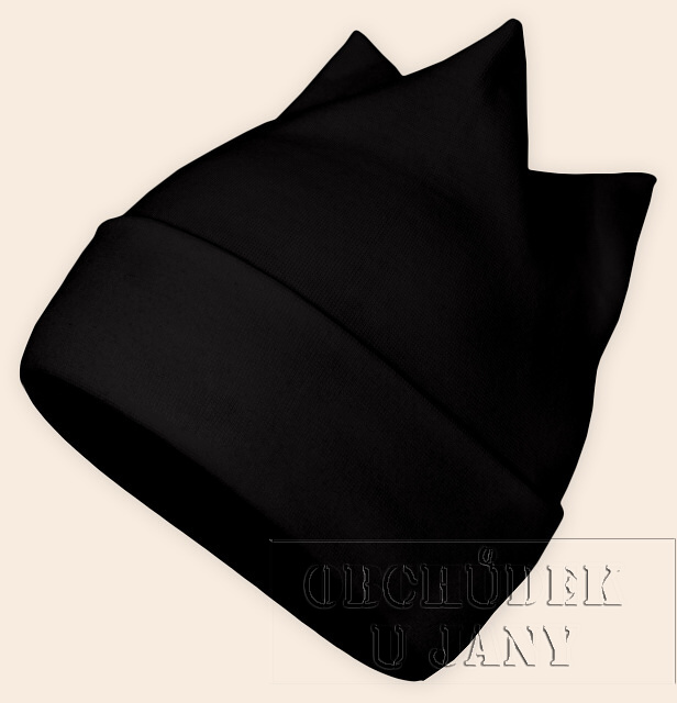 Čepice rohatka černá