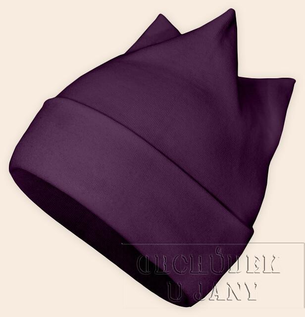 Čepice rohatka fialová