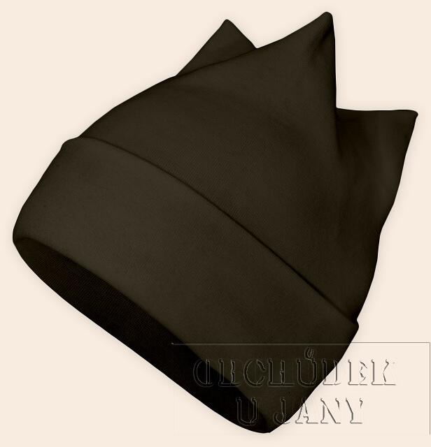Čepice rohatka khaki
