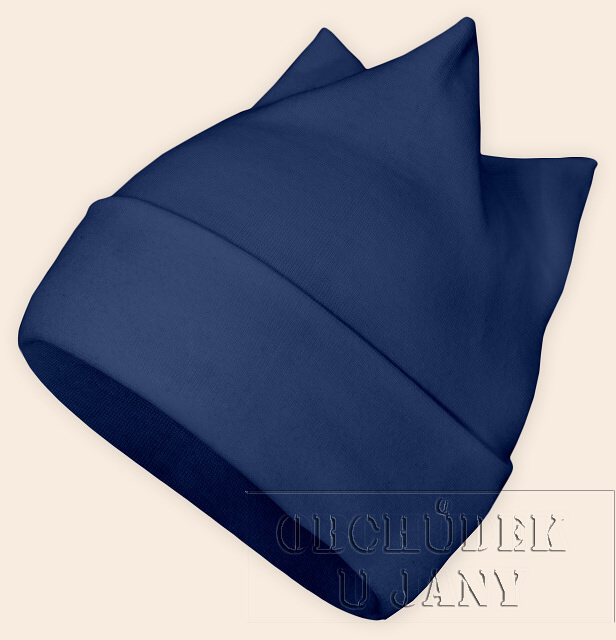 Čepice rohatka modrá