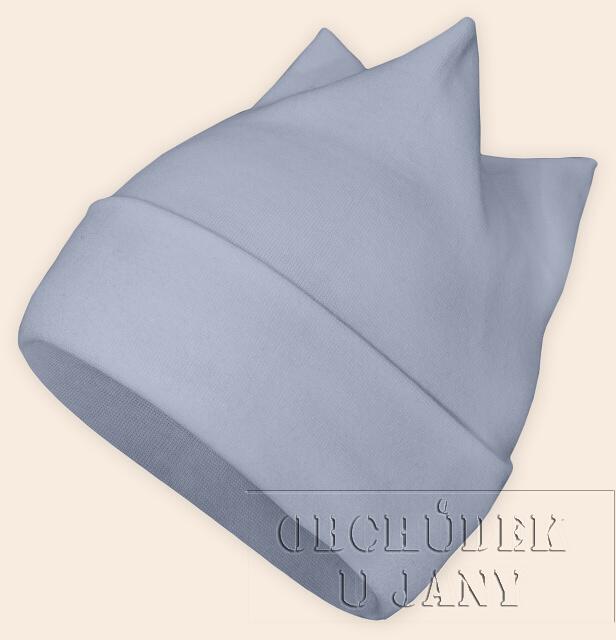Čepice rohatka modrá pomněnková