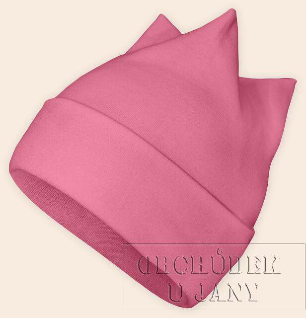 Čepice rohatka růžová
