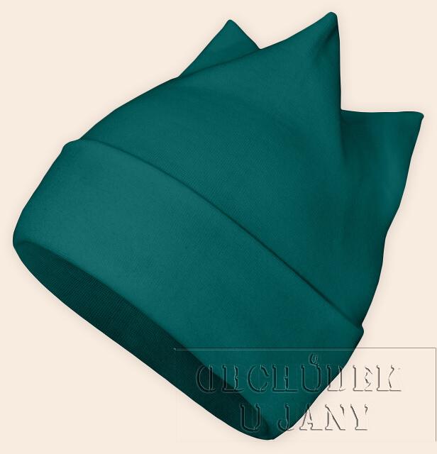 Čepice rohatka zelenomodrá