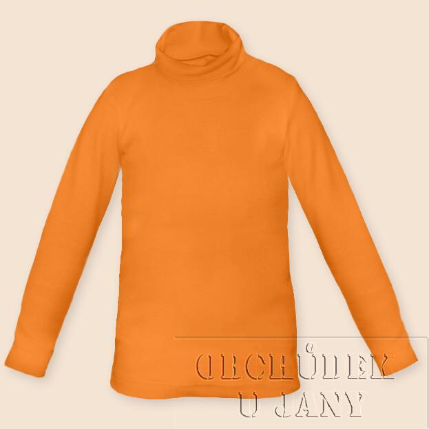 Dětský rolák oranžový světlý