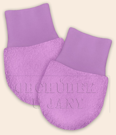 Kojenecké flísové rukavičky fialové