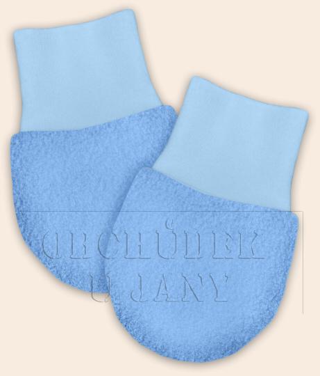 Kojenecké flísové rukavičky modré světlé