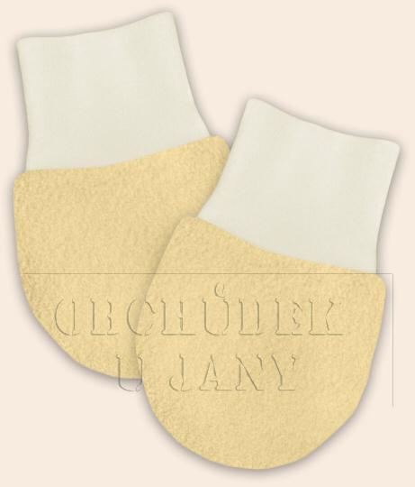 Kojenecké flísové rukavičky žluté