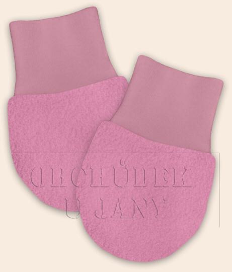 Kojenecké flísové rukavičky růžové světlé