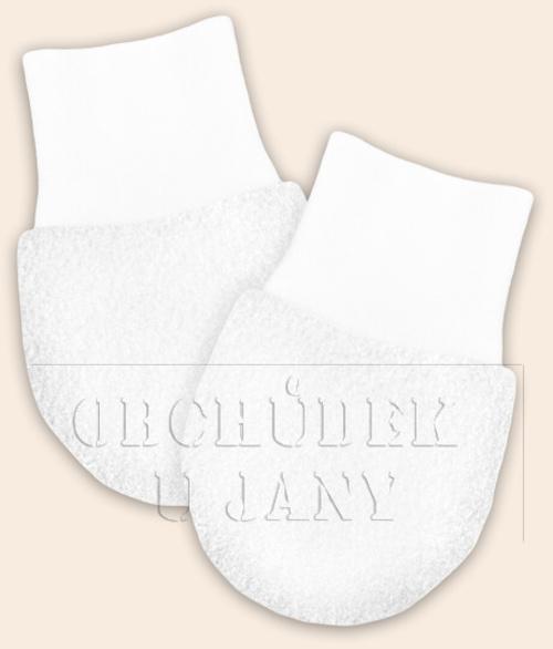 Kojenecké flísové rukavičky bílé