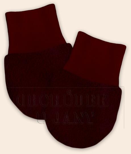 Kojenecké flísové rukavičky bordó