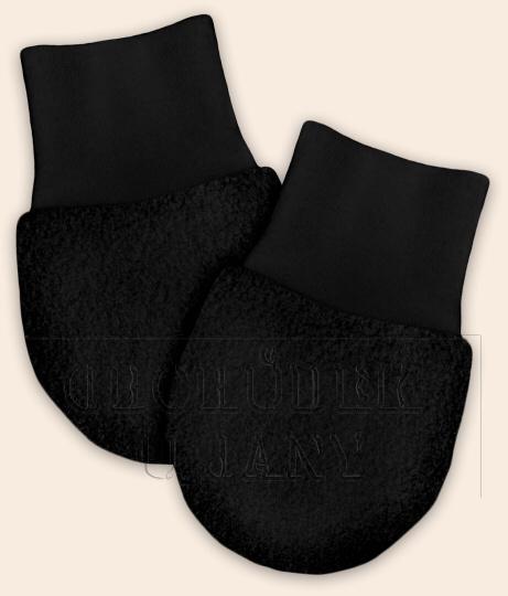 Kojenecké flísové rukavičky černé