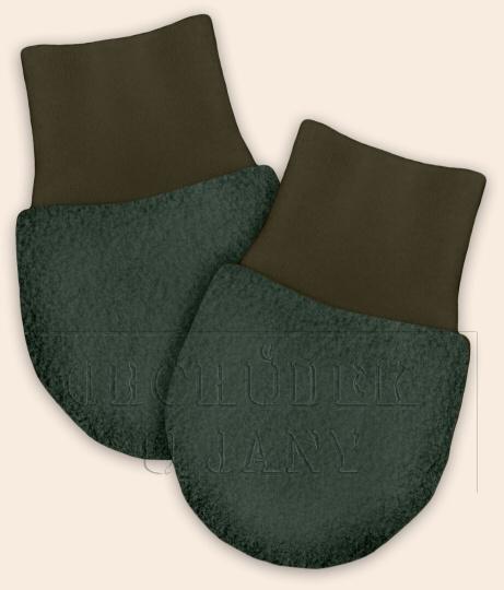 Kojenecké flísové rukavičky khaki