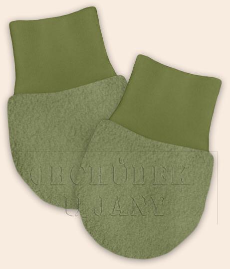 Kojenecké flísové rukavičky zelené